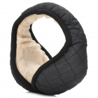 008A Universal 3.5mm Jack Soft Plush Earmuffs Winter Earwarmer Headset - Black +  Beige (126cm)