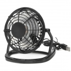 OB-O816 USB / isqueiro do carro motorizado 4-Blade Fan w / Switch - Preto
