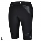 ARSUXEO Men's Stylish Sporty Quick Dry Elastic Nylon + Spandex Skinny Middle Pants - Black (L)