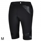 ARSUXEO Men's Stylish Sporty Quick Dry Elastic Nylon + Spandex Skinny Middle Pants - Black (M)