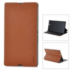 Stylish Flip-open PU  PC Case w/ Holder for Sony XL39H Xperia Z Ultra - Brown