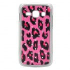 Stylish Crystal Inlaid Leopard Pattern Plastic Back Case for Samsung S7272 - Pink + Black + Silver