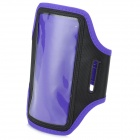 Stylish Sports Gym TPU + Neoprene Armband Case for Samsung Galaxy Mega 6.3 i9200 - Purple + Black