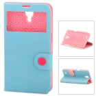 Baseus PU Leather Case w/ Display Window for Samsung Mega 6.3 i9200 / i9205 / i9208 - Light Blue