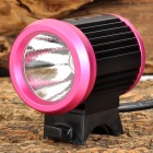 UltraFire LZZ-1 CREE XM-L U2 600lm 4-Mode White Bicycle Light - Deep Pink + Black (4 x 18650)
