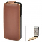 iFans EL-IP4-02 External 1450mAh Power Battery w/ PU Leather Case for iPhone 4 / 4S - Dark Brown