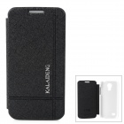 KALAIDENG Stylish Ice Crystal Pattern Protective PU Leather Case for Samsung Galaxy S4 Mini - Black