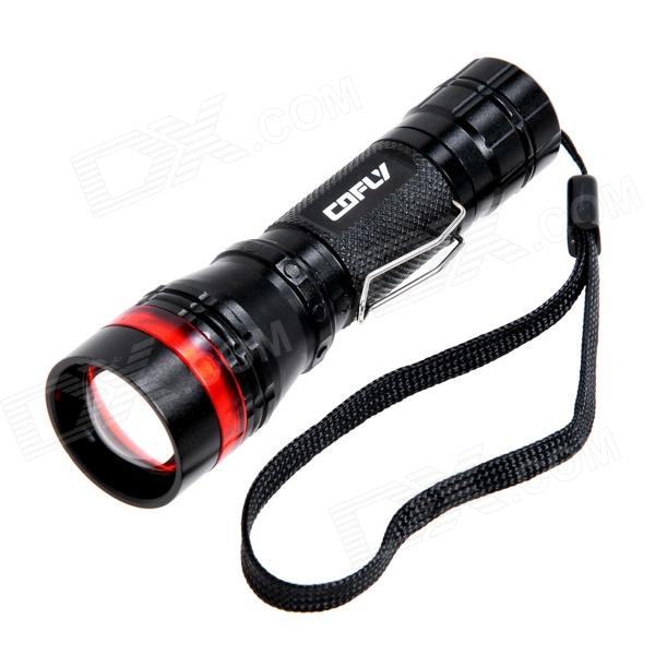 COFLY KX-H10 160lm 3-Mode White Zooming Flashlight w/ Cree XP-E R2 - Black + Red (1 x AA / 14500)