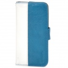 MODBI UC04APIP5 Protective PU Leather Case w/ Screen Protector for Iphone 5 - Blue + White