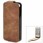 iFans EL-IP4-02 External 1450mAh Power Battery w/ PU Leather Case for iPhone 4 / 4S - Brown