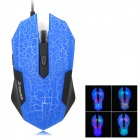 RH2300 Wired 800 / 1600 / 2400 / 3200dpi Gaming Optical Mouse - Blue + Black