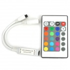 Mini 24-Key Remote Control for RGB LED Light - Black + White (1 x 27A / 12V)
