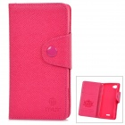 Stylish Flip-open TPU Leather Case w/ Card Slot for Sony Xperia L / S36H - Deep Pink