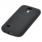 Stylish Durable Silicone + PC Protective Back Case for Samsung Galaxy S4 Mini - Black