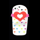 Love Heart Flip-Flops Style Protective Silicone Back Case for Iphone 5 - White