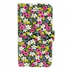 Floral Style Protective Plastic Back Case for Iphone 4 / 4S - Colorful