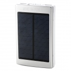 Compact Dual USB Ausgang 20000mAh Lithium-Ionen Solar Energy Power Bank-w / LED-Licht - Silber