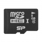 SP Micro SDHC Class 4 TF Memory Card - White + Black (8GB)