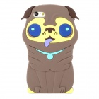 Cute 3D Dog Style Protective Silicone Back Case for Iphone 5 - Brown + Yellow