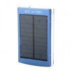 Compact Dual USB Output 20000mAh Rechargeable Li-ion Solar Energy Power Bank w/ LED Light - Blue