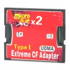 A1 Dual Micro SD / TF to CF High Speed SDXC Adapting Card - Red + Black (2TB)