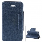 Protective PU Leather Case for Iphone 4S - Dark Blue