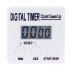 "SUNNEX 1.6"" LCD Kitchen Digital Timer - White (1 x AAA)"