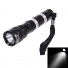 CHENGHUI 96A 3W 30lm 6000K Whtie Light 1-Mode LED Flashlight - Black + Silver (1 x AA)
