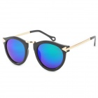 OREKA 8888 Fashion UV400 Protection PC Coating Lens Sunglasses - Black + Golden + Green