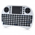 Multifuncionais Mini Keyboard 92-Key w / placa de toque - branco + preto