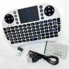 Multifunction Mini 92-Key Keyboard w/ Touch Plate - White + Black