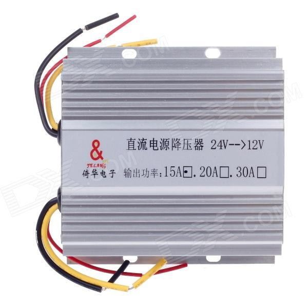 yeLANG DC 24V to DC 12V Car Auto Power Converter - Silver