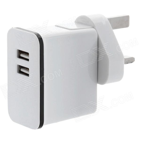 AC destacável carregamento Adapter Charger w / saída USB duplo para iPhone / iPad - White (UK Plug)