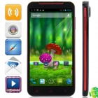 "S5 MTK6589T Quad-Core Android 4.2.1 WCDMA Bar Phone w / 5,0 ""HD, 32 GB ROM, 2GB RAM, GPS - Schwarz + Rot"