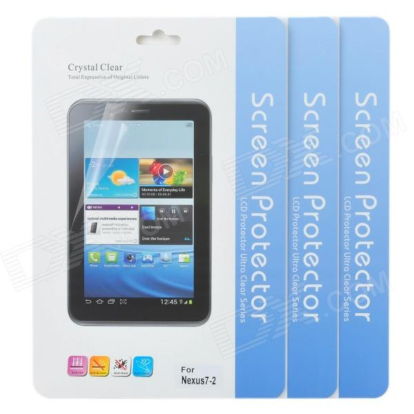 Protective Clear Screen Protector Film Guard for Google Nexus 7 II - Transparent (3 PCS) protective clear screen protector guard film for samsung p3100 7 tablets transparent