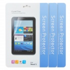 Protective Clear Screen Protector Film Guard for Google Nexus 7 II - Transparent (3 PCS)