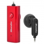 LY-L1-HONGSE Stylish Bluetooth V2.1 Earphone w/ Microphone for iPhone 4 / 4S - Red + Black + Gray