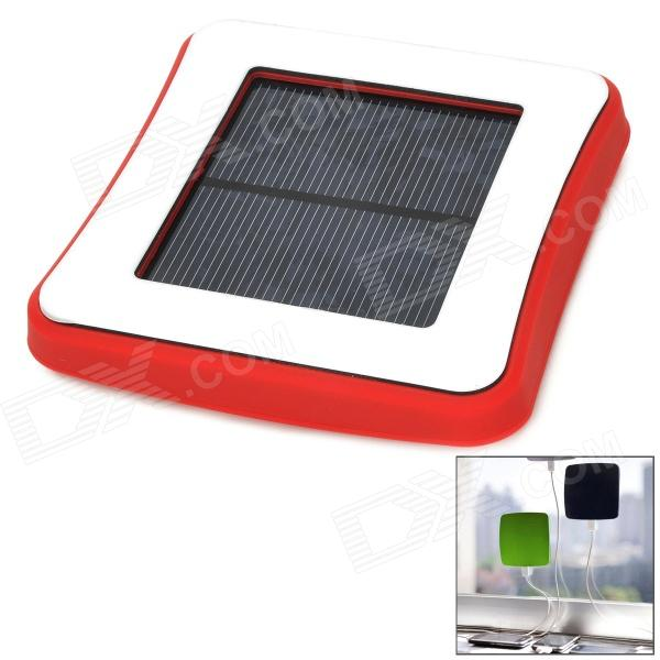 Window Mounted Solar Energy Powered Rechargeable 1800mAh Power Bank for Cellphone - Red 1800mah portable solar power solar power battery pack for cell phones and usb gadgets