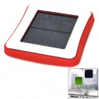 Window Mounted Solar Energy Powered Rechargeable 1800mAh Power Bank for Cellphone - Red