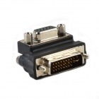 CMI DB-018 90 Degree Angle VGA HDB 15-Pin Female to DVI Male Adapter / Display Convertor - Black