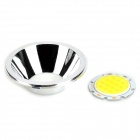 7W 630lm 6500K White Light Round LED Module w/ Reflector Cup - Silver (22~23V)