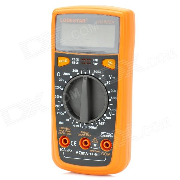 LODESTAR LD3805A Digital Multimeter w/ Capacitance Measurement / Buzzer / Backlit