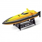 HUANQI 955 2-Channel 20km/h High-Speed Wireless Remote Control Boat - Yellow + Grey