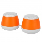 OJADE Mini USB 3W MP3 Music Dual-Speaker for Laptop Notebook - Orange + White