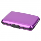 Aluminum Alloy Bank / Credit Card Case Holder Box - Purple