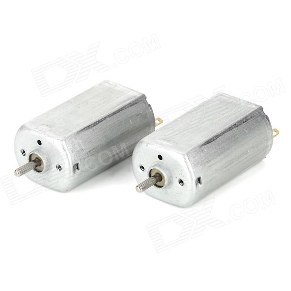 T-130SH DIY Strong Magnet Motor for Helicopter / Vehicle Model - Silver + White (2 PCS)