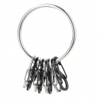 "BMG-M1-031 Novel ""8"" Shaped Stainless Steel Key Ring - Schwarz + Silber"