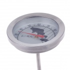 Stainless Steel Food Probe Analog Thermometer - Silver
