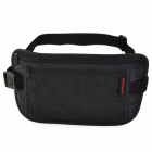 WELLHOUSE WH-00331 Outdoor Sports Travel Nylon Waist Bag - Black (Size L)