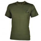 ESDY-8864 Men's Outdoor Sports Quick Drying Round Collar T-shirt - Army Green (Size XXL)
